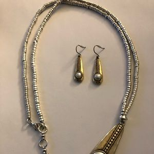 Lucky Brand Jewelry - Lucky brand set earring and necklace with pearls